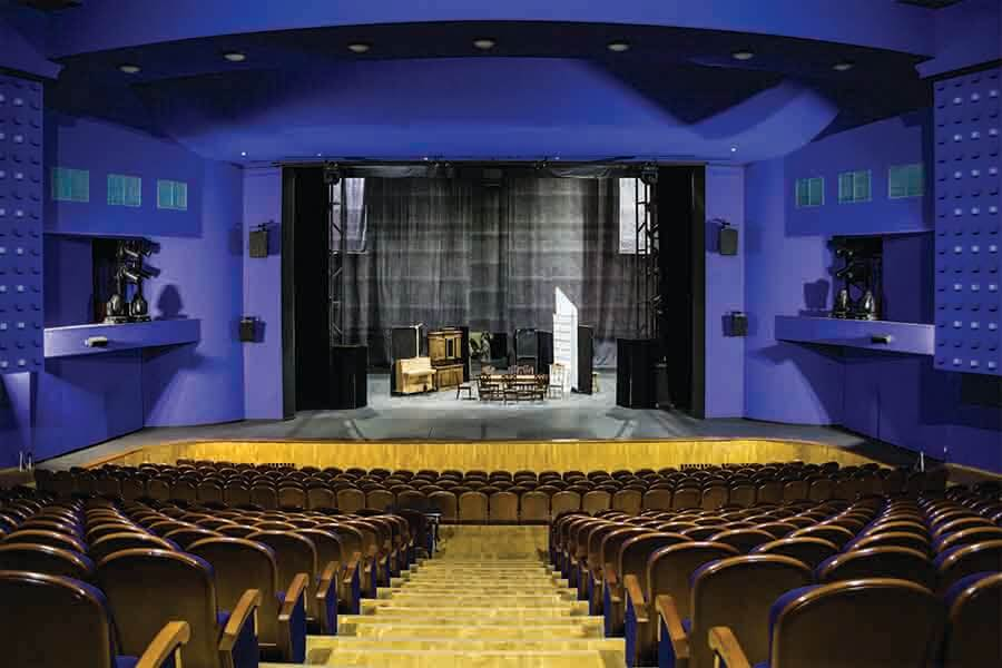 interior design of empty theater stage from acoustic physics